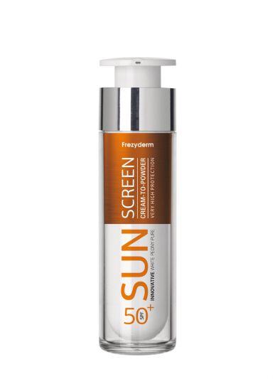 Frezyderm Sun Screen Cream to Powder SPF50+ Αντηλιακό Προσώπου με Αίσθηση Πούδρας 50ml