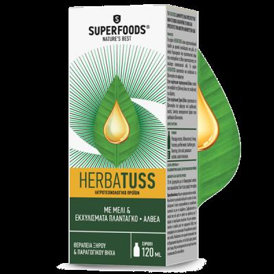 Superfoods Herbatuss Syrup Για Το Ξηρό Και Τον Παραγωγικό Βήχα 120ml