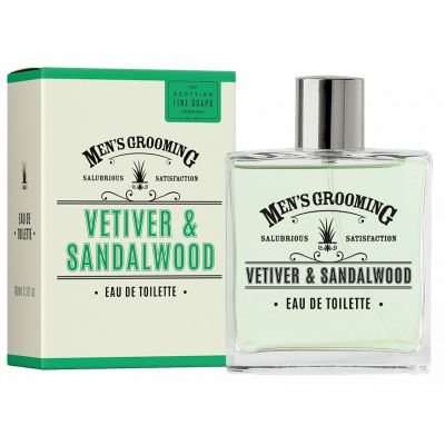 The Scottish Fine Soaps Grooming Ανδρικό Άρωμα Vetiver &  Sandalwood Eau de toilette 100ml
