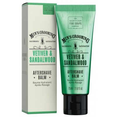 The Scottish Fine Soaps Grooming After Shave Balm Vetiver & Sandalwood 75ml