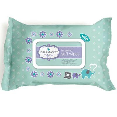 Pharmasept Tol Velvet Baby Soft Wipes (30 τεμάχια)