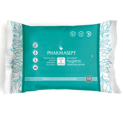 Pharmasept Tol Velvet Hygienic Cleansing Gloves 10 τμχ.