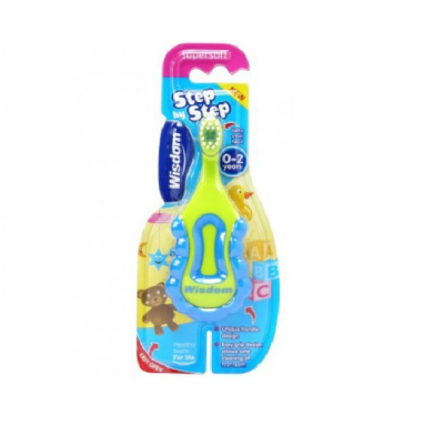 Tommee Tippee Παιδική Οδοντόβουρτσα Soft Λαχανί-Μπλε (0-2 ετών), 1τμχ
