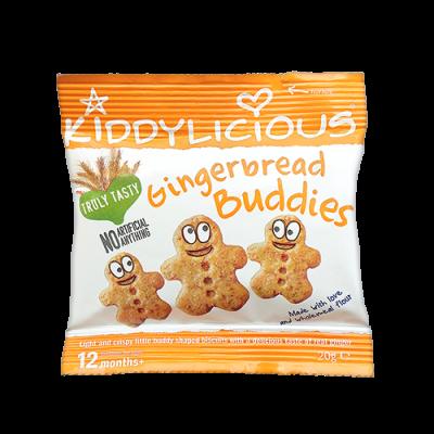 Kiddylicious Gingerbread Buddies Μπισκότα Τζίντζερ 20g