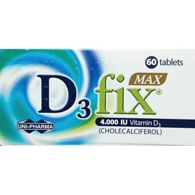 Unipharma D3 Fix Max 4000 IU Συμπλήρωμα Βιταμίνης D3 60tabs