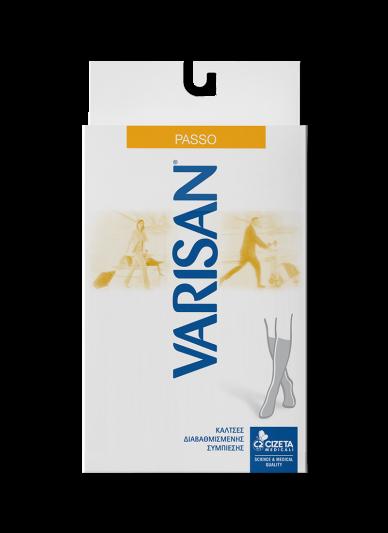 Varisan Passo Κάλτσες Κάτω Γόνατος Διαβαθμισμένης Συμπίεσης 18-20mmHg Size 1 Γκρι 855 1 Τεμ.