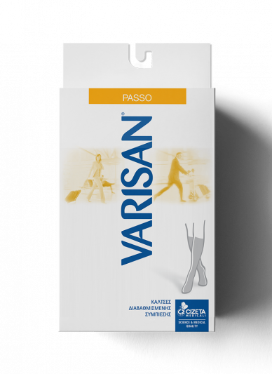 Varisan Passo Κάλτσες Κάτω Γόνατος Διαβαθμισμένης Συμπίεσης 18-20mmHg Size 2 Καφέ 794 Τεμ.