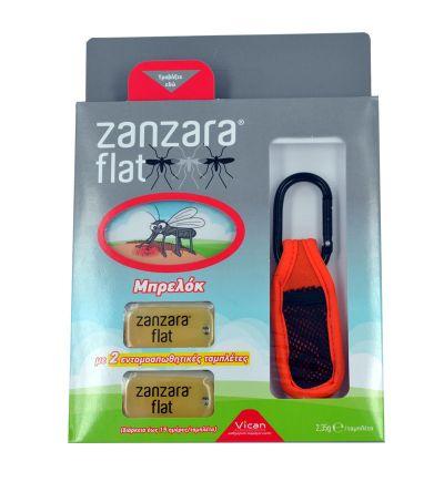 Vican Zanzara Flat, Εντομοαπωθητικό Μπρελόκ Κόκκινο & 2 Εντομοαπωθητικές Ταμπλέτες