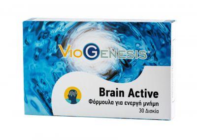 Viogenesis Brain Active - Φόρμουλα για Ενεργή Μνήμη, 30 Δισκία