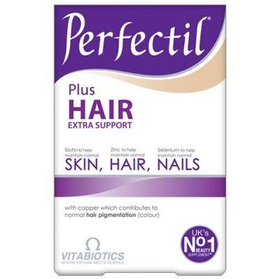 Vitabiotics Perfectil Plus Hair Συμπλήρωμα Διατροφής για Δέρμα, Μαλλιά, Νύχια 60 Ταμπλέτες