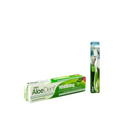 Optima AloeDent Whitening Toothpaste 100ml + Δώρο οδοντόβουρτσα Πράσινη