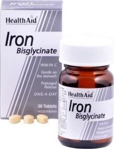 Health Aid Iron Bisglycinate 30mg 30 ταμπλέτες
