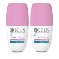 Bioclin Promo Deo Allergy Alcohol Free Roll-on Αποσμητικό 1+1 ΔΩΡΟ 2x50ml
