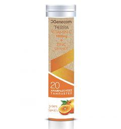 Genecom Terra  Vitamin C 1000mg Zinc Orange 20 Ταμπλέτες