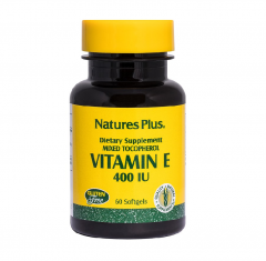 Natures Plus Vitamin E 400IU 60 Μαλακές Κάψουλες