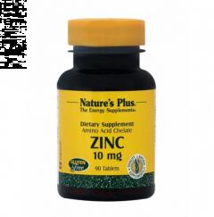 Natures Plus Zinc 10mg, Χηλικός Ψευδάργυρος, 90 Ταμπλέτες
