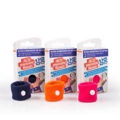 Acu Pressure Bands Περικάρπια Ναυτίας 2 τεμάχια Ροζ Χρώμα
