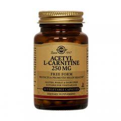 Solgar Acetyl L-Carnitine 250mg 30 Φυτικές Κάψουλες