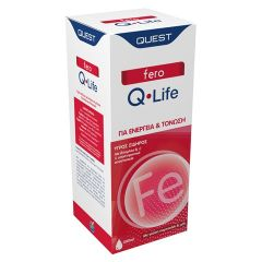 Quest Fero Q-Life Συμπλήρωμα Υγρού Σιδήρου με Γεύση Πορτοκάλι & Μέλι Για Ενέργεια και Τόνωση 200ml